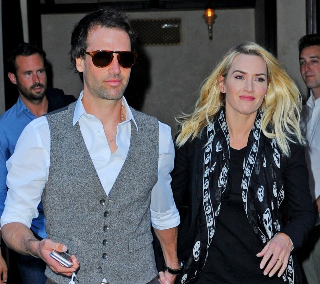 NEW YORK - OCTOBER 06: Kate Winslet and Ned Rocknroll are seen out in the Big Apple on October 06, 2015 in New York, New York. (Photo by Josiah Kamau/BuzzFoto via Getty Images)