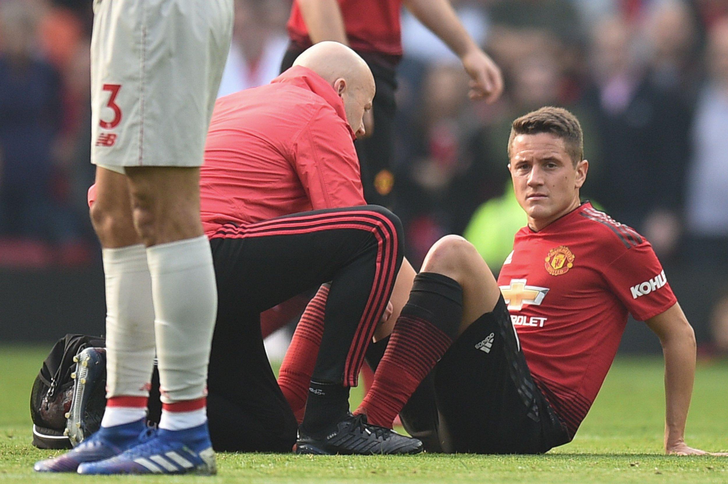 Manchester United suffer Ander Herrera and Juan Mata injury blows against Liverpool