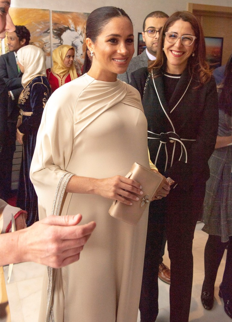 bb7312bc6 The Duchess of Sussex during a reception hosted by the British Ambassador  to Morocco at the
