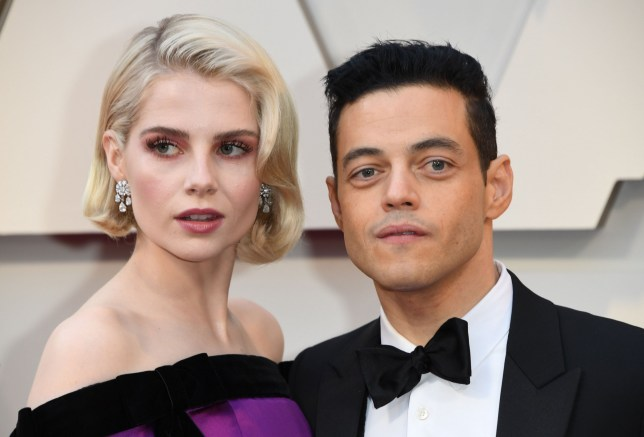 Rami Malek and girlfriend Lucy Boynton at Oscars 2019