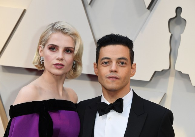 "Best Actor nominee for ""Bohemian Rhapsody"" Rami Malek and actress Lucy Boynton arrives for the 91st Annual Academy Awards at the Dolby Theatre in Hollywood, California on February 24, 2019. (Photo by Mark RALSTON / AFP)MARK RALSTON/AFP/Getty Images"