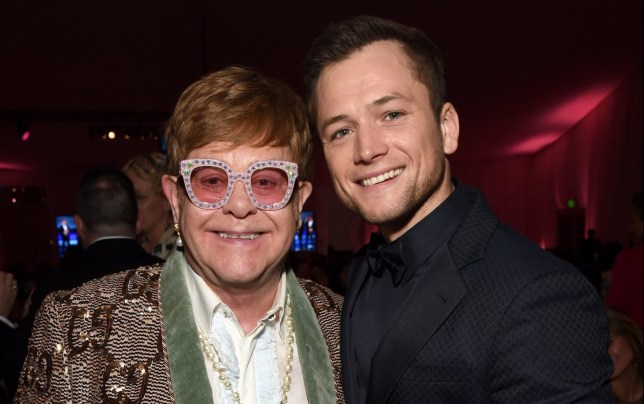 WEST HOLLYWOOD, CA - FEBRUARY 24: Sir Elton John and Taron Egerton attend the 27th annual Elton John AIDS Foundation Academy Awards Viewing Party sponsored by IMDb and Neuro Drinks celebrating EJAF and the 91st Academy Awards on February 24, 2019 in West Hollywood, California. (Photo by Michael Kovac/Getty Images for EJAF)