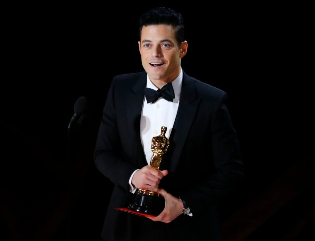 "91st Academy Awards - Oscars Show - Hollywood, Los Angeles, California, U.S., February 24, 2019. Rami Malek accepts the Best Actor award for his role in ""Bohemian Rhapsody."" REUTERS/Mike Blake"