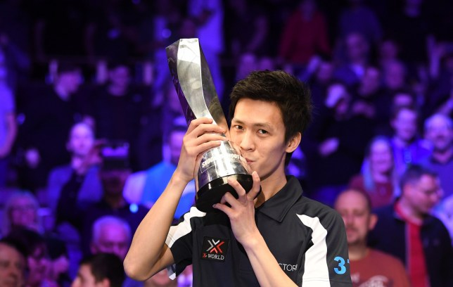 24th February 2019, Watford Colosseum, Watford, England; BetVictor Snooker Shoot Out; The final, Thepchaiya Un-Nooh versus Michael Holt; Thepchaiya Un-Nooh beats Michael Holt conclusively to win the Shootout 2019 Trophy (photo by Simon West/Action Plus via Getty Images)