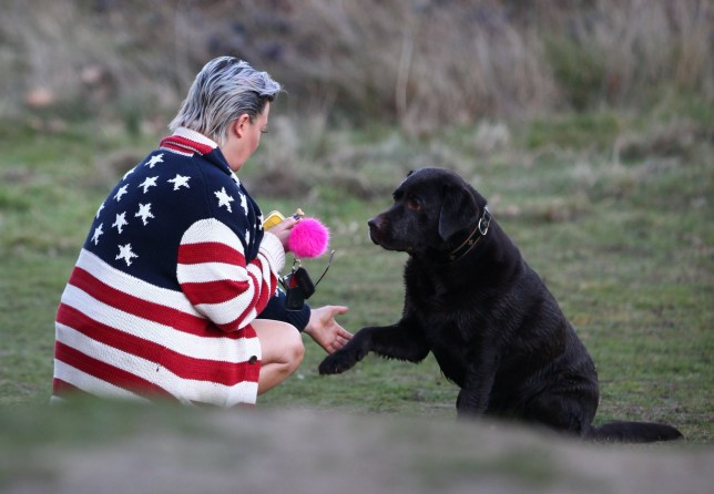***STRICT ONLINE EMBARGO UNTIL 4.30PM MONDAY 25TH FEBRUARY 2019***MINIMUM FEE ??200 FOR THE SET FOR ONLINE USE*** EXCLUSIVE ALLROUNDERLisa Armstrong takes her dog Hurley out for a walk Featuring: Lisa Armstrong Where: England, United Kingdom When: 23 Feb 2019 Credit: WENN.com