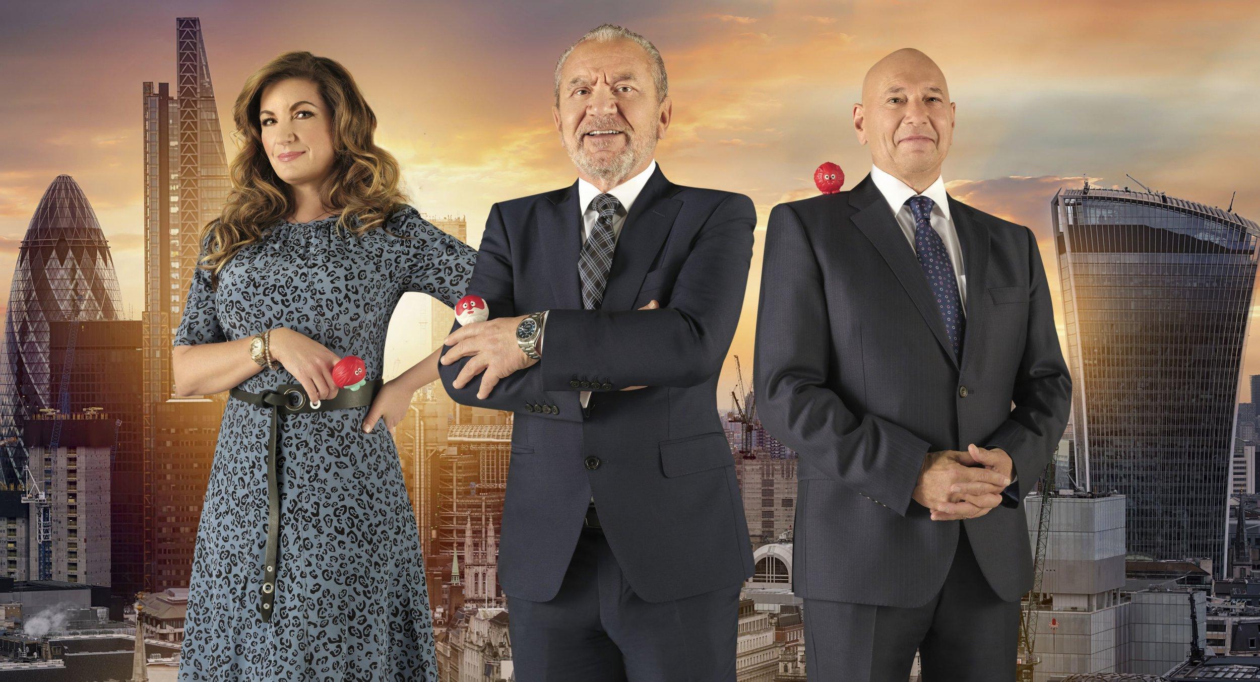 Karren Brady, Lord Sugar and Claude Littner in Celebrity Apprentice