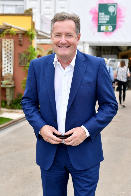 LONDON, ENGLAND - MAY 21: Presenter Piers Morgan attends the Chelsea Flower Show 2018 on May 21, 2018 in London, England. (Photo by Jeff Spicer/Getty Images)