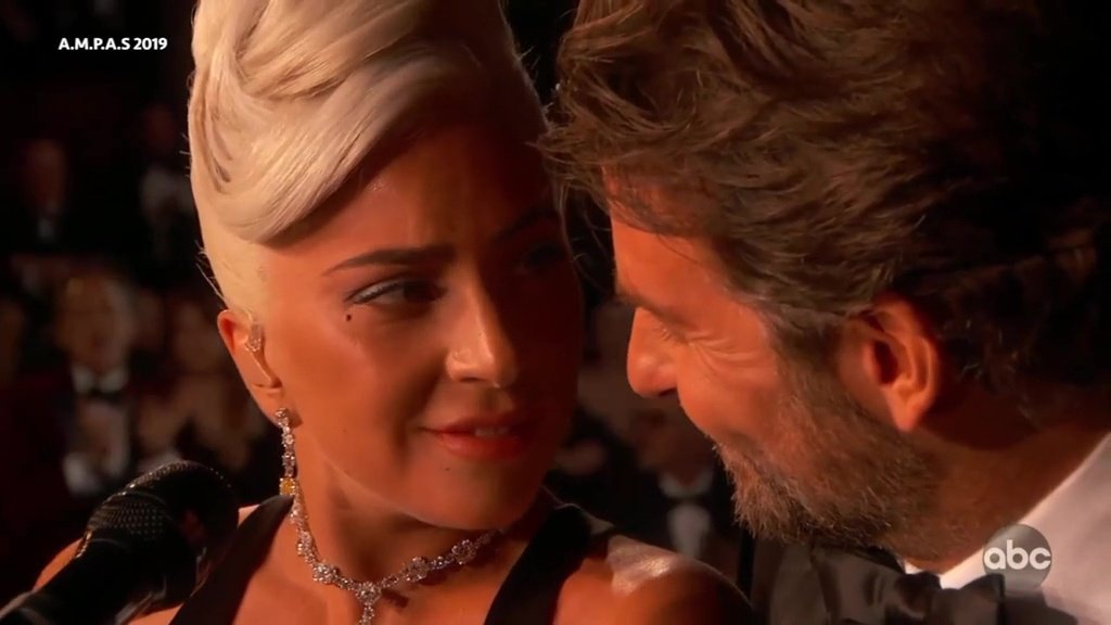 Lady Gaga and Bradley Cooper perform emotional version of Shallow at the Oscars