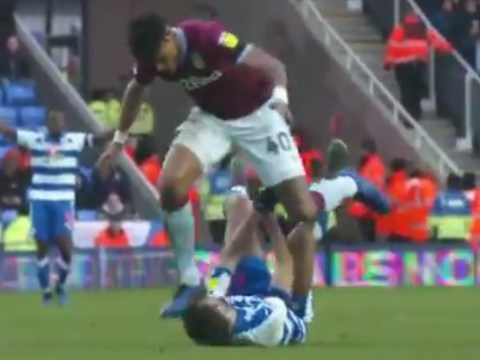 Reading release shocking new footage of Tyrone Mings' stamp on Nelson Oliveira