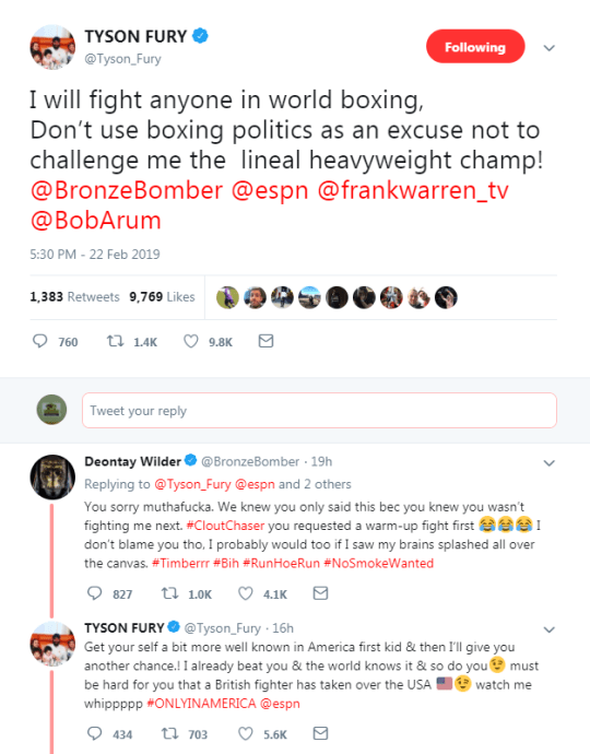 Boxing news: Tyson Fury snaps back at Deontay Wilder after
