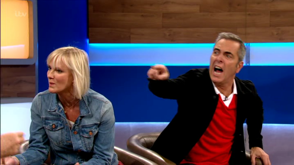 Things kicked off on the Jeremy Kyle / Cold Feet crossover (Picture: ITV)
