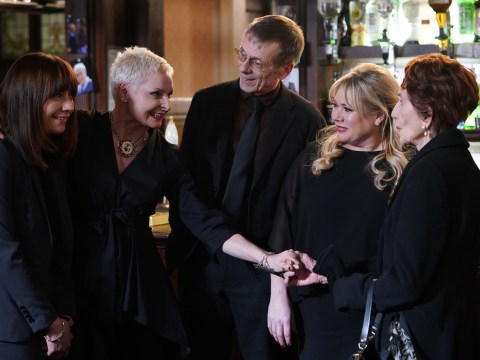 EastEnders spoilers: First look pictures reveal Mary the punk and Lofty's returns for Dr Legg's funeral