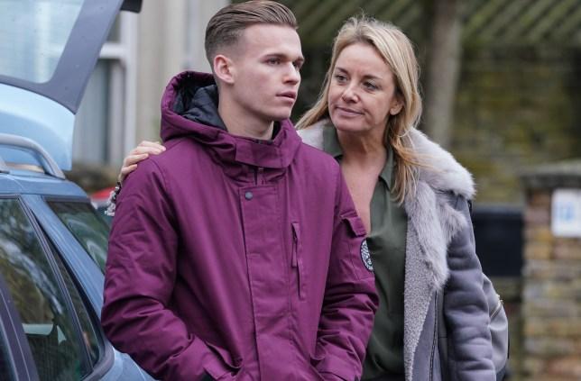 Hunter and Mel flee in EastEnders