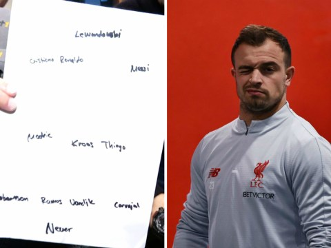 Xherdan Shaqiri names two Liverpool players in his dream XI – but there's no room for Mohamed Salah