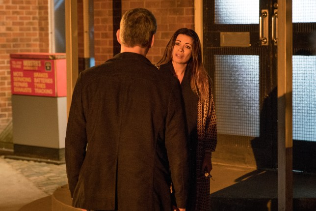 Robert confronts Carla in Coronation Street