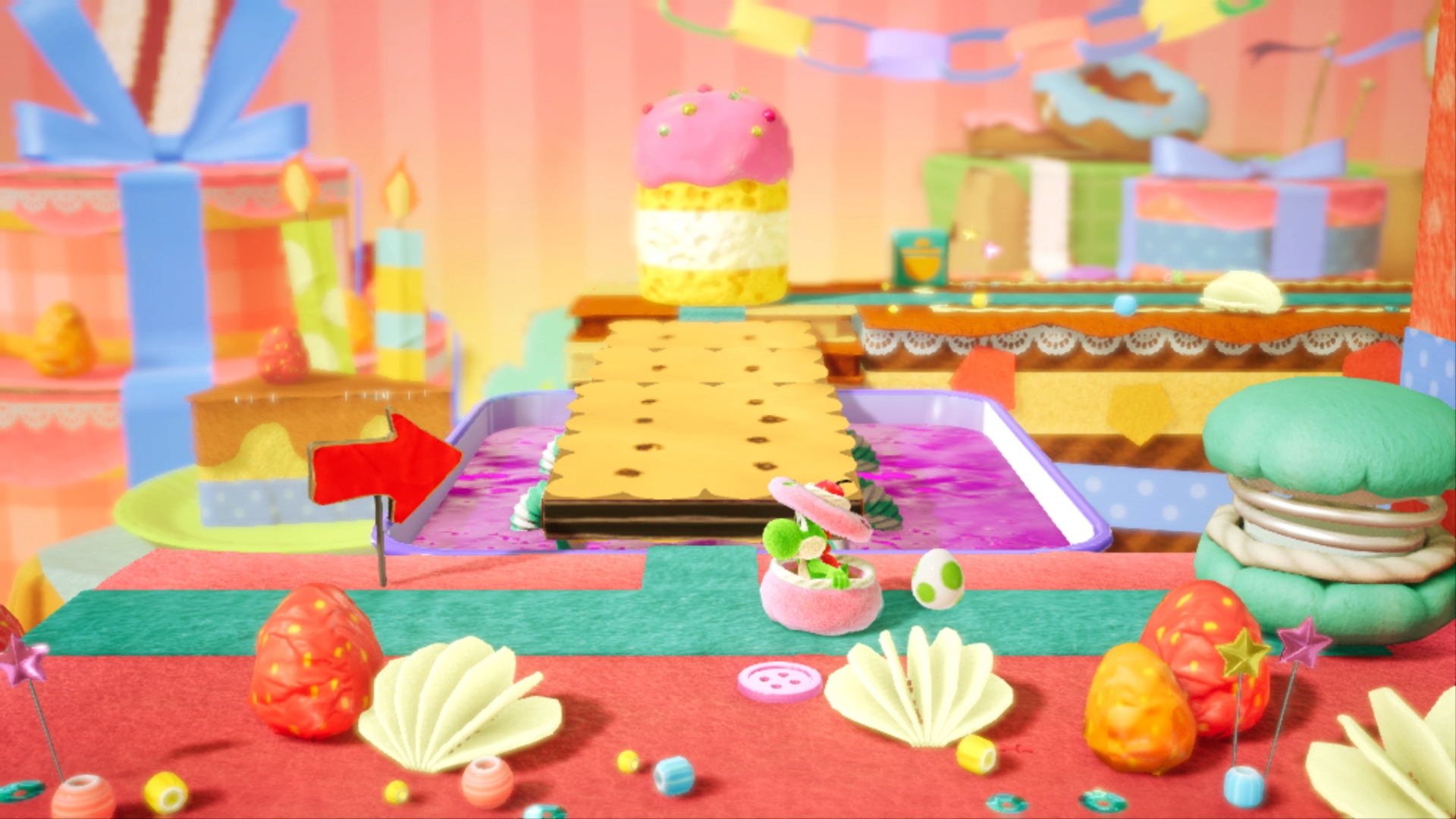 Yoshi's Crafted World (NS) - it's a bit of a cakewalk