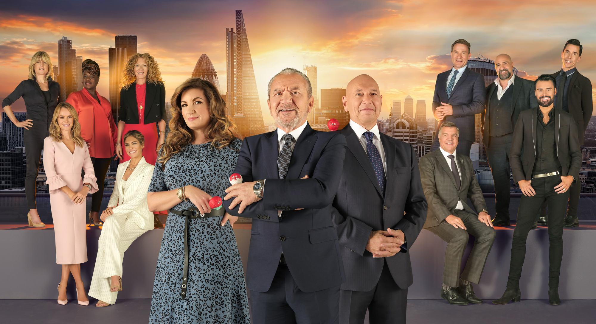 Lord Sugar and the Celebrity Apprentice For Comic Relief candidates