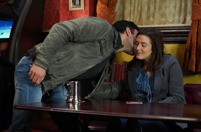 Kush kisses Bex in EastEnders