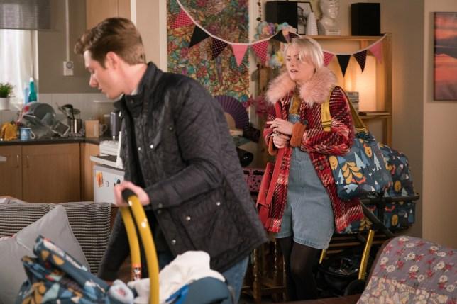 Daniel and Sinead bring Bertie home in Coronation Street