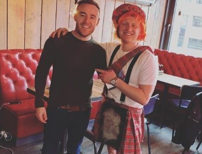 Sam Aston celebrated his stag do in Edinburgh