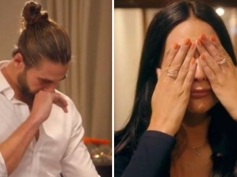 The Bachelor's Robyn Tollady storms out of intense rose ceremony as Alex Marks sends her home