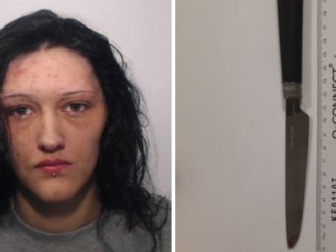 Woman goes on rampage with steak knife because she 'didn't like way man was looking at her'