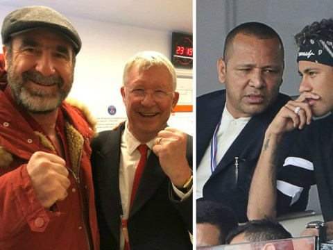 Eric Cantona involved in heated argument with Neymar's Dad after Manchester United's win over PSG
