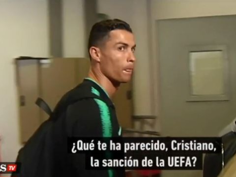 Cristiano Ronaldo reacts to UEFA fining him for copying Diego Simeone's celebration after Juventus beat Atletico Madrid