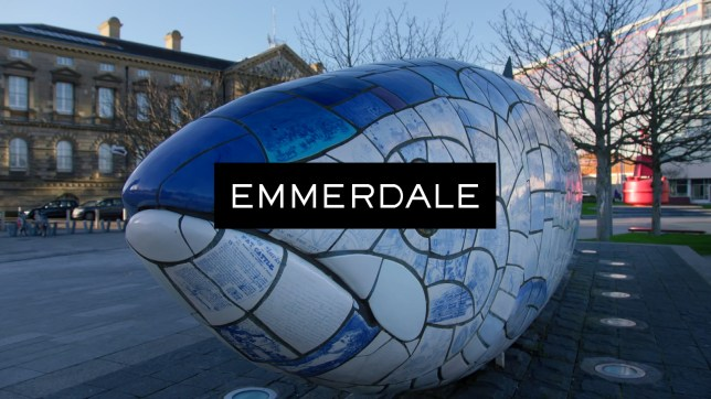 Emmerdale logo as the soap takes a break from screens