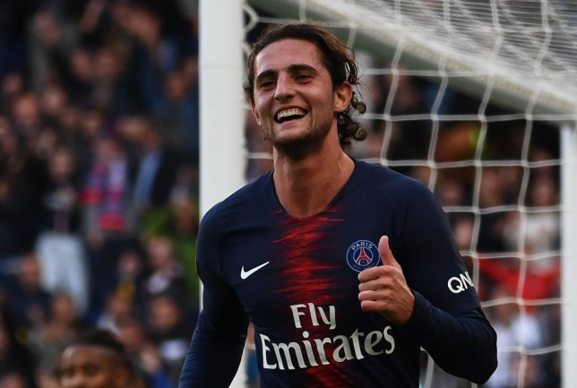 Adrien Rabiot is wanted by Unai Emery at Arsenal
