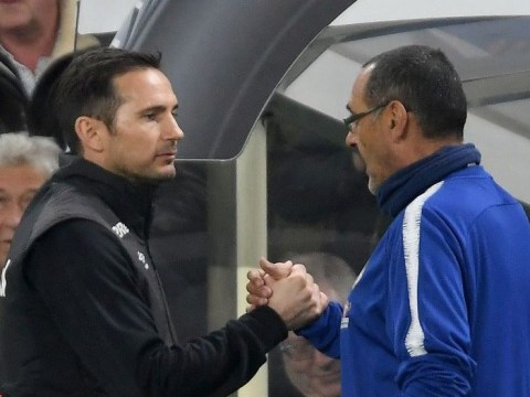 Frank Lampard impressed with Maurizio Sarri after speaking to Chelsea manager after Derby defeat