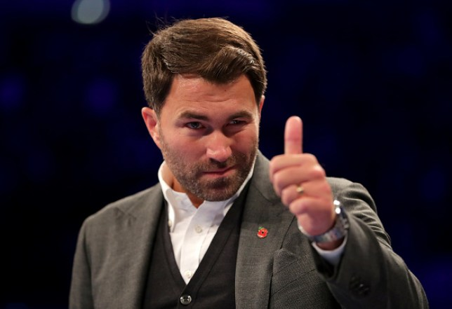 Eddie Hearn gives the thumbs up