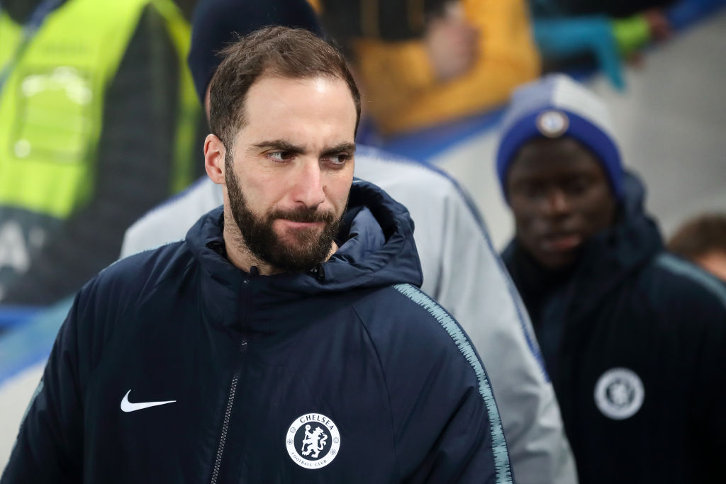 Gonzalo Higuain hints at permanent Chelsea transfer as he reveals Champions League 'dream'