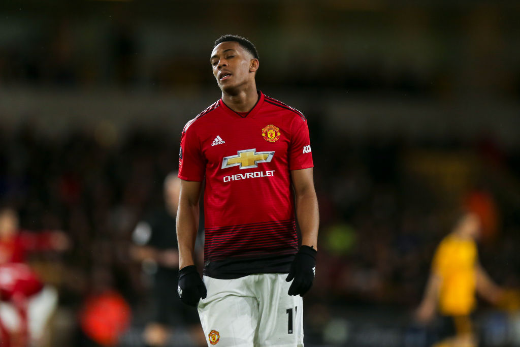Anthony Martial forced to withdraw from France squad after picking up injury vs Wolves