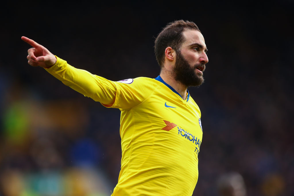 Maurizio Sarri admits Gonazlo Higuain is struggling after Chelsea's defeat against Everton