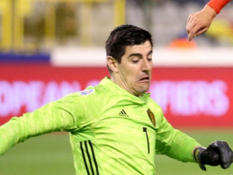Thibaut Courtois commits huge blunder during Belgium's game against Russia