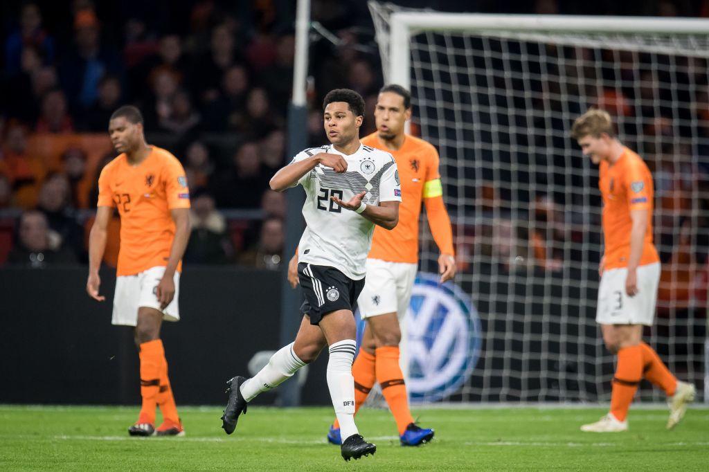 Serge Gnabry turns Virgil van Dijk inside out to score stunning goal for Germany against Netherlands