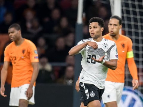 Serge Gnabry turns Virgil van Dijk inside out to score stunning goal for Germany against Netherlands