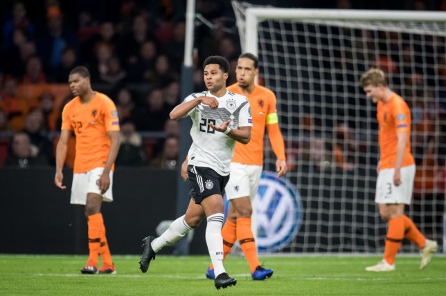 Serge Gnabry rinses Virgil van Dijk in Germany vs Netherlands