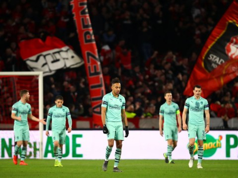 10-man Arsenal suffer humiliating 3-1 defeat to Rennes