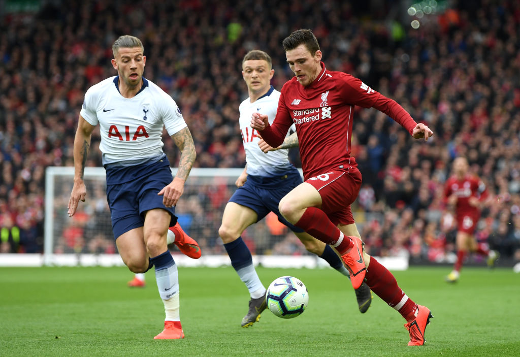 Andrew Robertson admits Liverpool win over Tottenham was fortunate