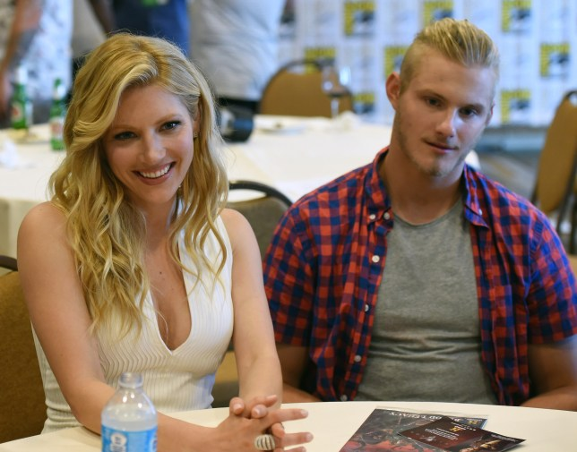 Katheryn Winnick and Alexander Ludwig at San Diego Comic Con 2018
