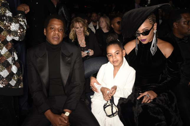 Blue Ivy with her parents Jay Z and Beyoncé