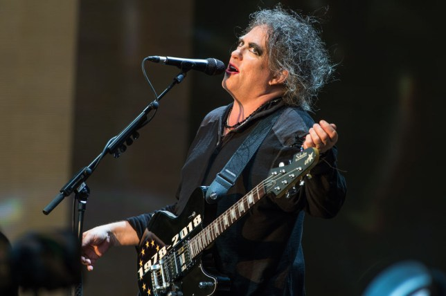 Robert Smith performing