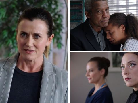 7 Holby City spoilers: Protests at the hospital lead to terror for Fletch and Ange