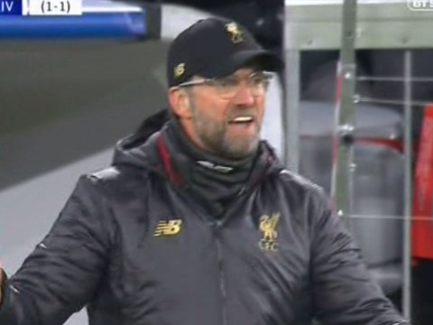 Jurgen Klopp gets angry after Andy Robertson's mistake allows Bayern Munich to equalise against Liverpool