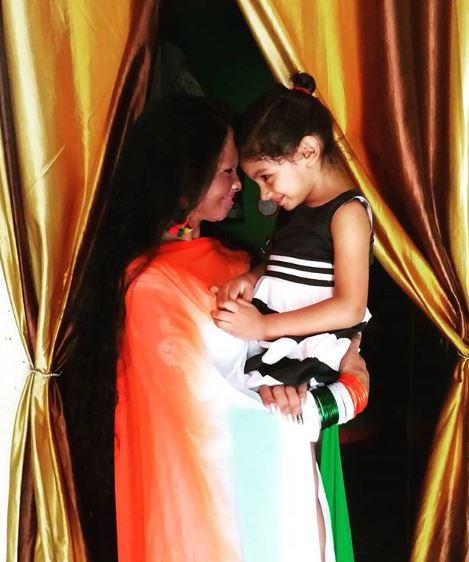 Laxmi Agarwal and daughter
