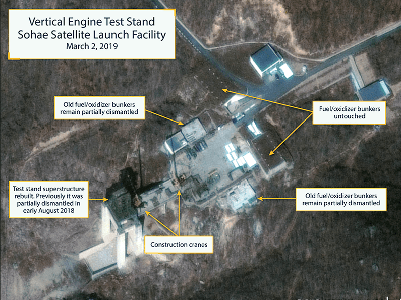 North Korea 'starts rebuilding missile site' after failed Trump summit