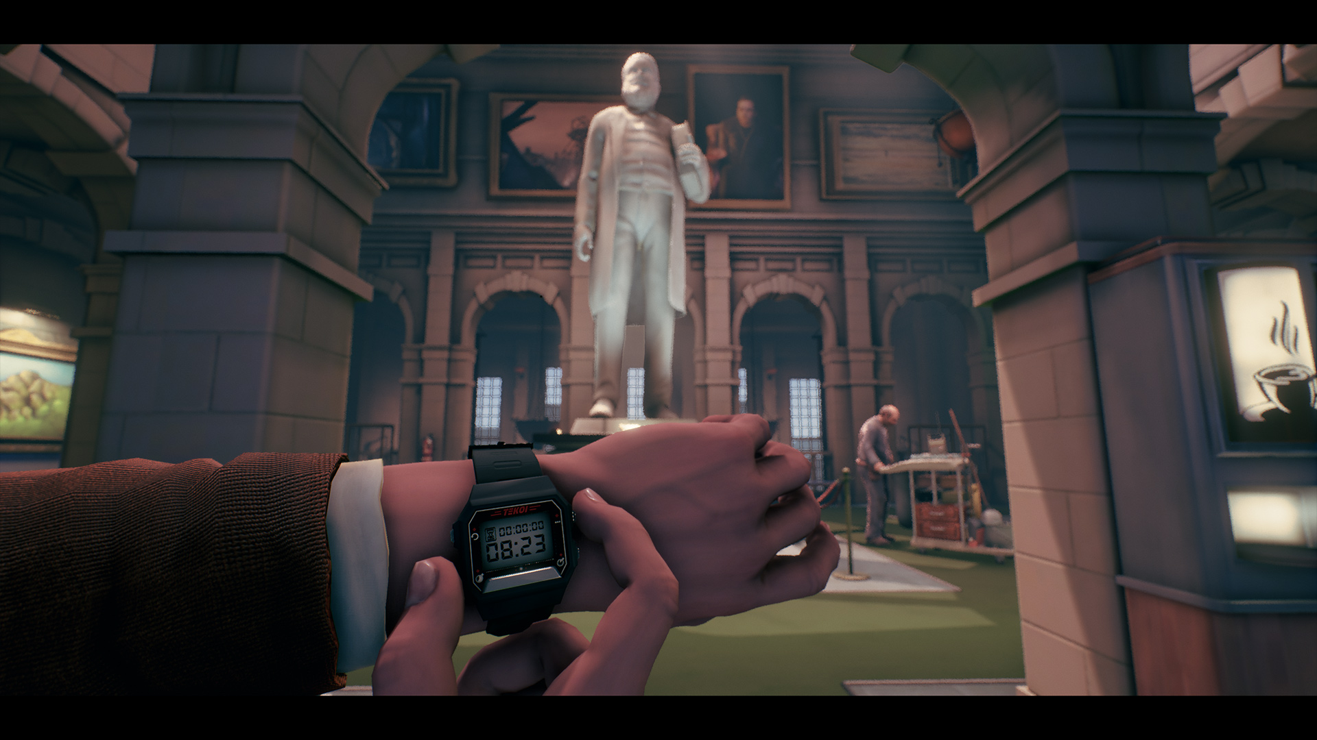 The Occupation (PS4) - lapse to a epoch of a digital watch