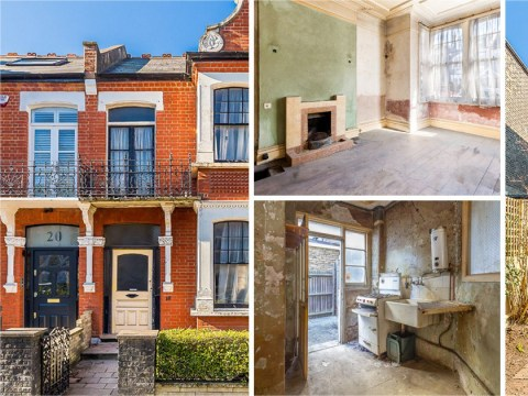 This derelict London home is on the market for a staggering £1.8 million